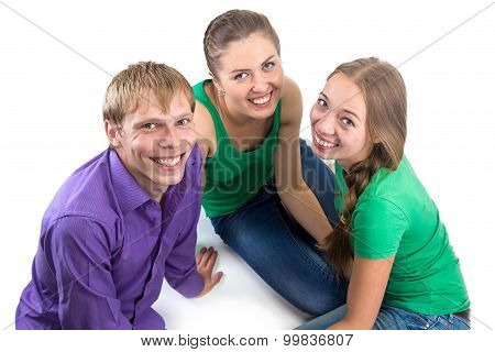 Photo of happy smiling friends