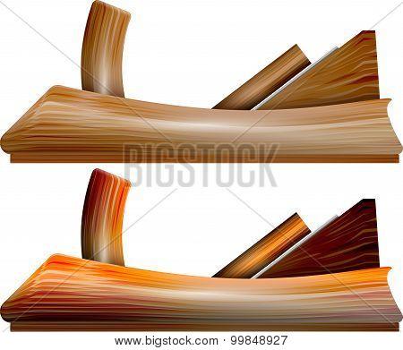planer on wood