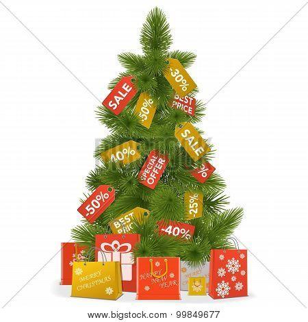 Vector Christmas Sale Concept