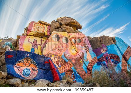 Roy Purcell Journey Mural Near Chloride Arizona