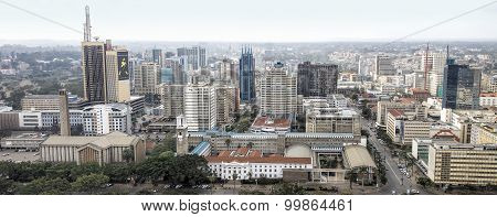Central business district and skyline of Nairobi