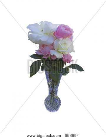 Bouquet Of Roses I N A Vase