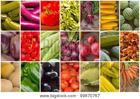 Fruit And Vegetable Collage