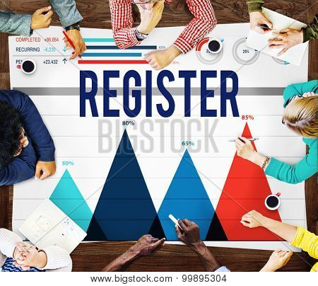 Register Application Enlist Join Sign Up Concept