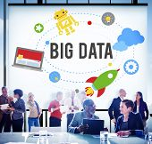 Big Data Database Storage Analysis Security Concept poster