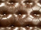 Genuine leather upholstery background for a luxury decoration in Brown tones poster