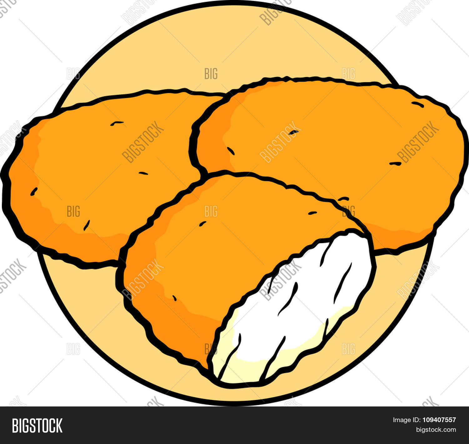breaded deep fried chicken nuggets vector photo bigstock rh bigstockphoto com  chicken nuggets clipart