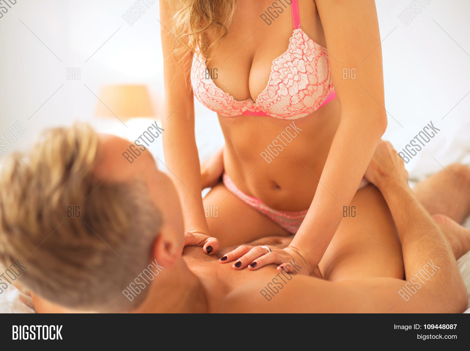 Man And Woman Having Erotic Foreplay