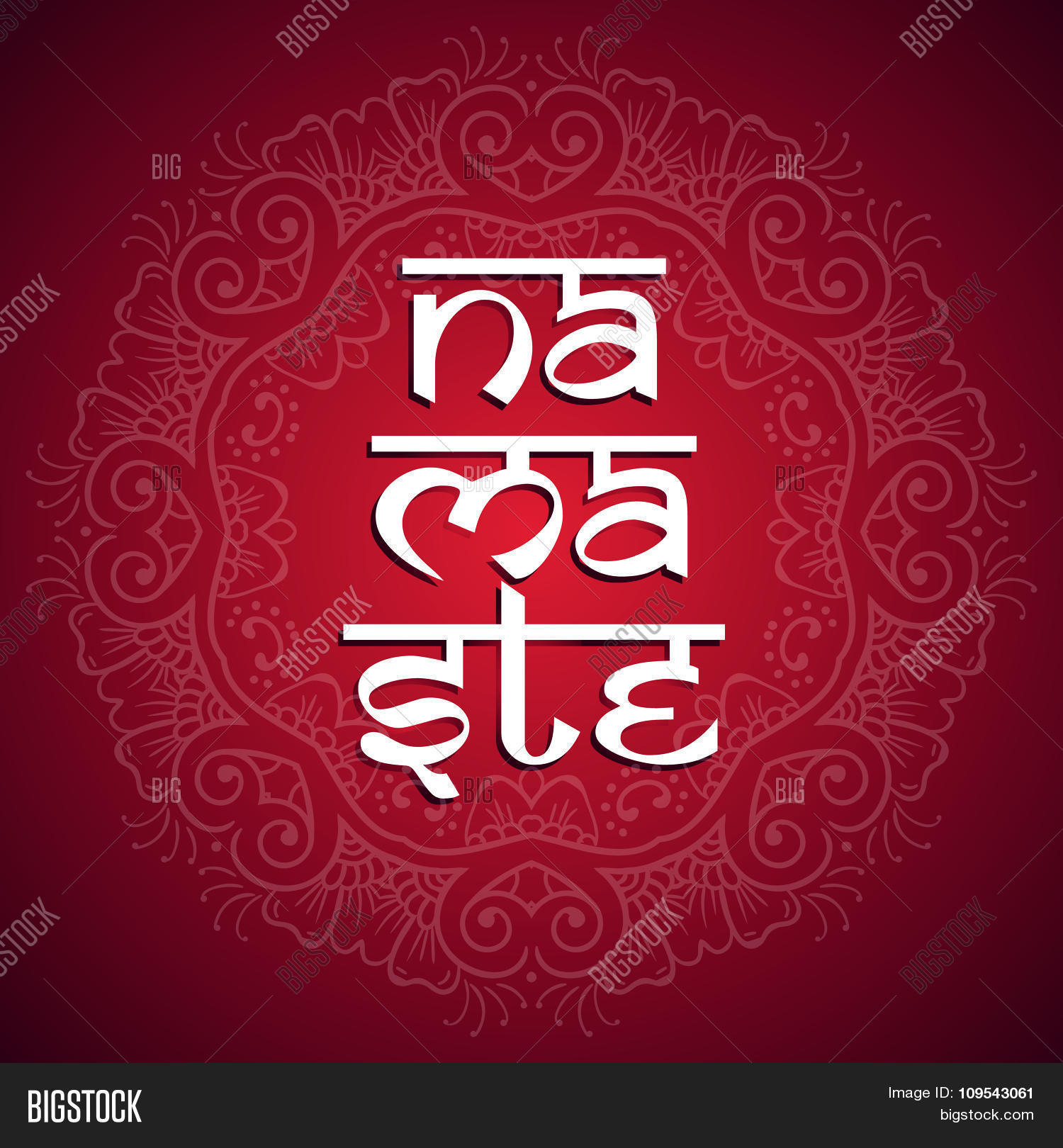 Welcome gesture vector photo free trial bigstock welcome gesture indian or arabic greeting banner in namaste mudra on a bright background with a m4hsunfo