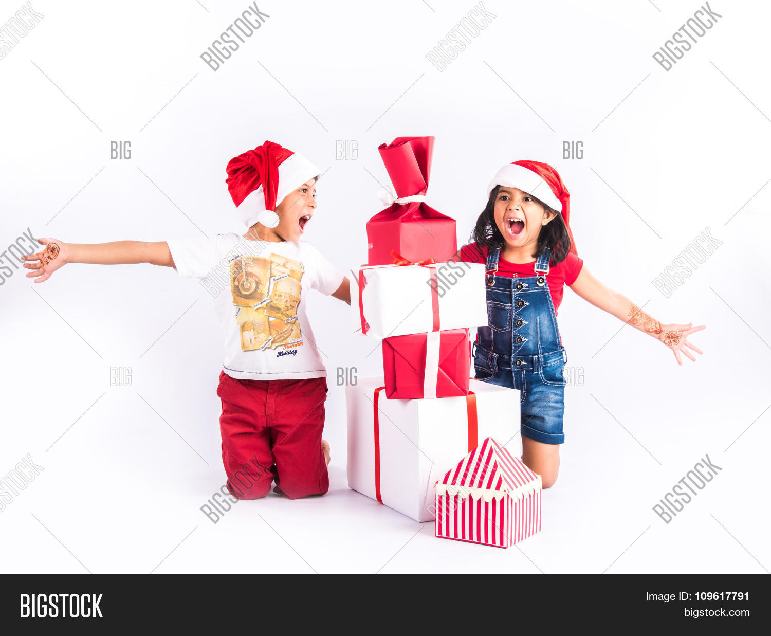 Indian Kids Christmas Image & Photo (Free Trial) | Bigstock
