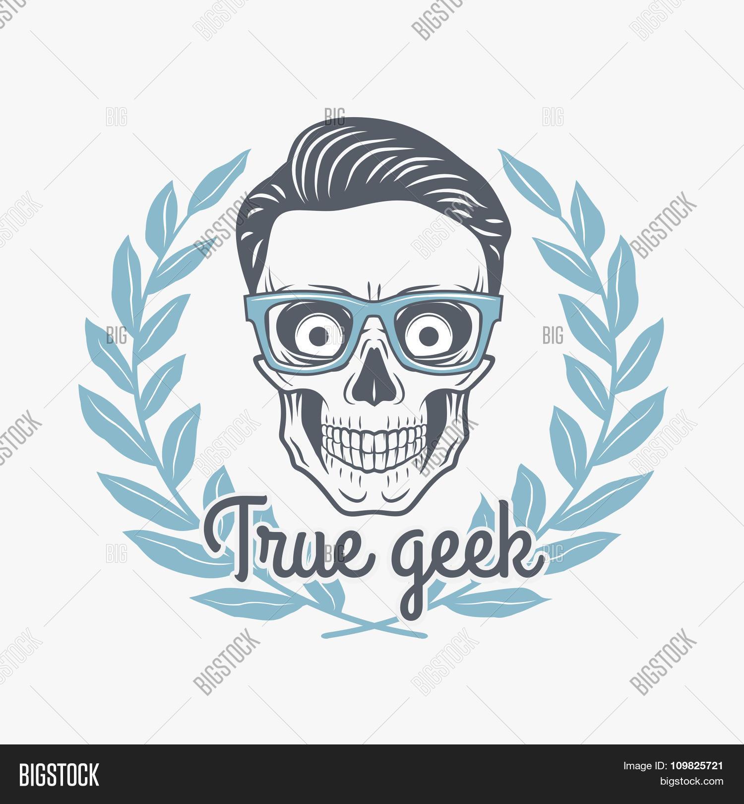 True Geek Skull Vector Photo Free Trial Bigstock