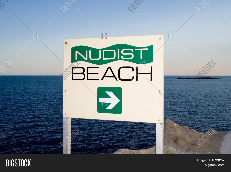 Nudist Beach Sign