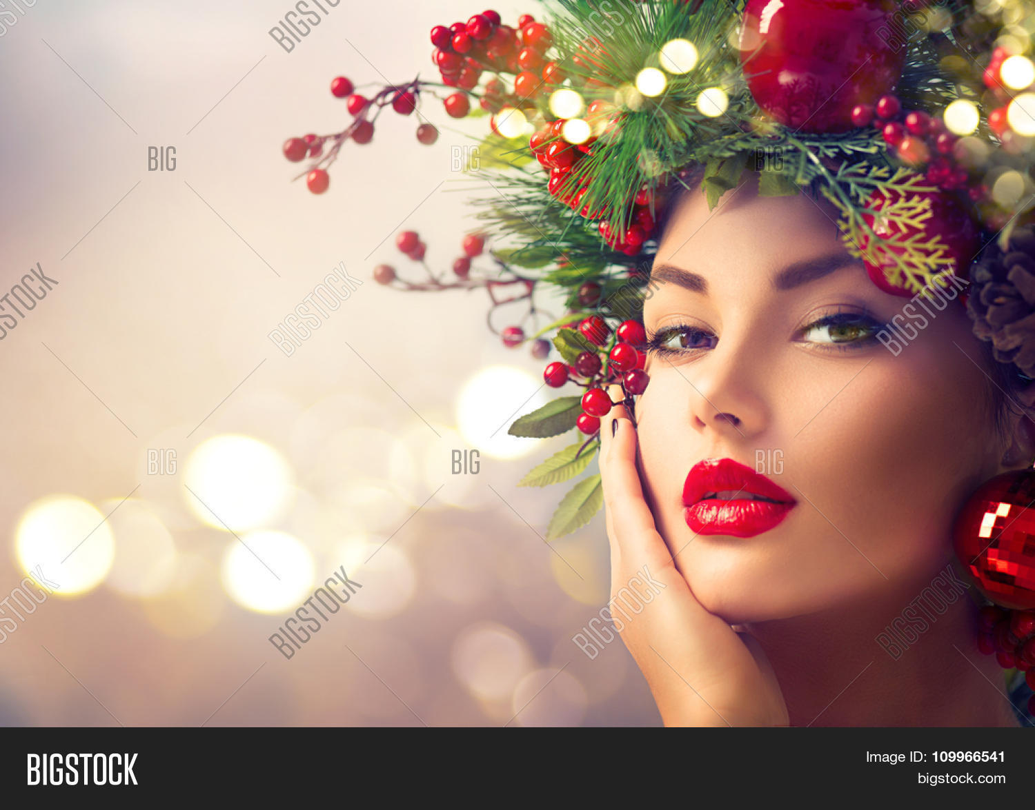 Christmas Model.Christmas Winter Image Photo Free Trial Bigstock