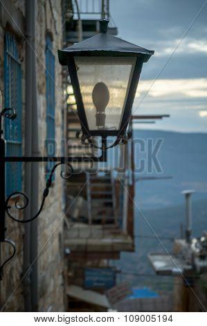 A Street Lamp, Safed (tzfat)
