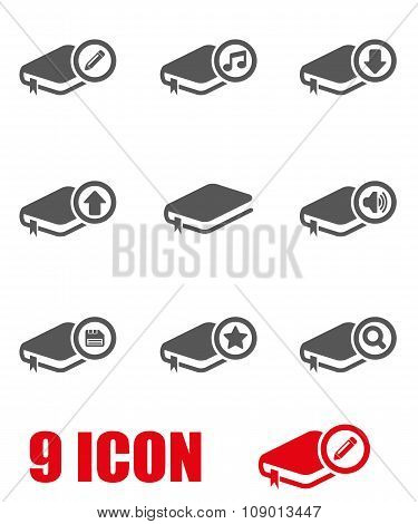 Vector black book icon set
