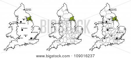 East Riding Yorkshire located on map of England