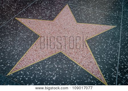 Empty Star In Hollywood