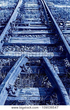 Railway Junction In Blue Background 4