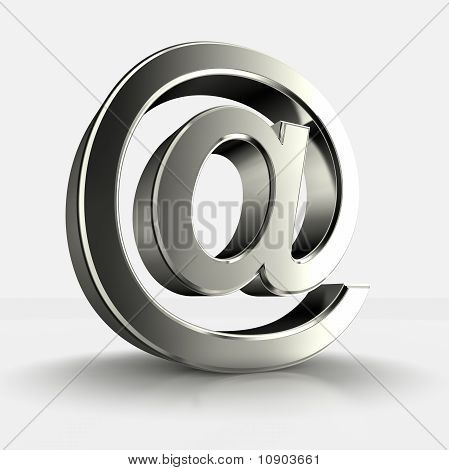 3d image of steel at isolated in white background poster