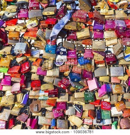 Lockers At The Hohenzollern Bridge Symbolize  Love Forever