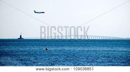 Oresund Bridge Between Sweden And Danmark