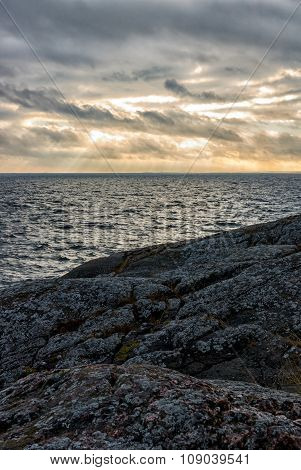 Sunset by coast