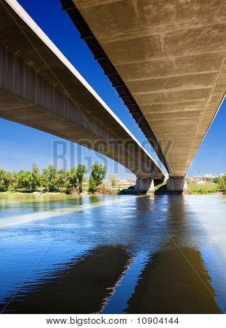 Bridge with a river