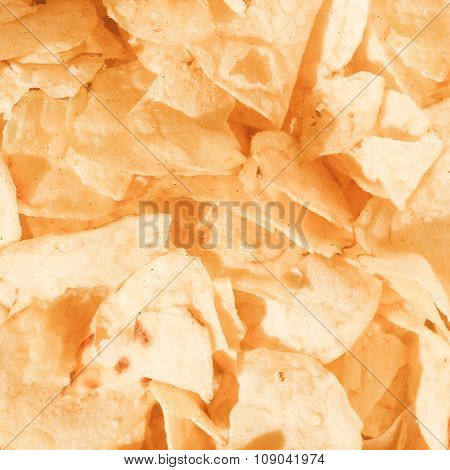 Retro Looking Potato Chips Crisps