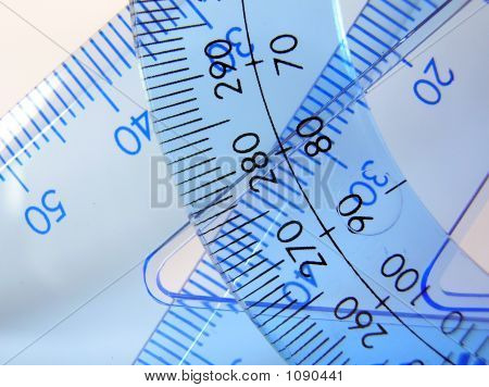 Triangle Rulers With Protractor