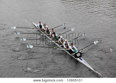 Boston - October 24: Mercyhurst College Men's Crew Competes In The Head Of The Charles Regatta On Oc