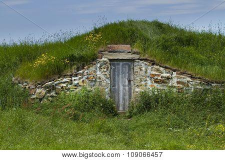 Root Cellar In Rural Elliston In Newfoundland And Labrador