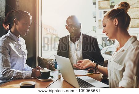 Group Of Multi Ethnic Business People At A Meeting