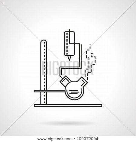 Laboratory equipment flat line vector icon