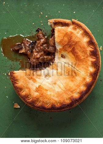 Rustic Meat And Mushroom Pie