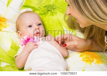 My Mother Looks At Her Two Month Baby