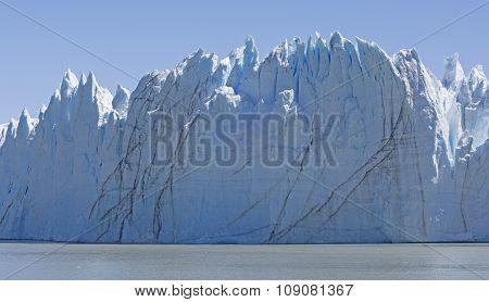 Sheer Face Of An Alpine Glacier