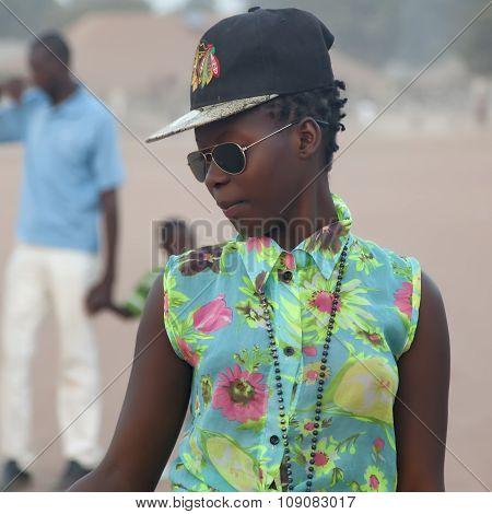 Portrait Of An Urban African Girl