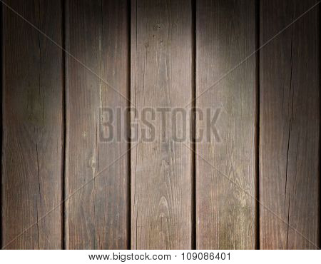 Weathered Wooden Plank Background Lit From Above