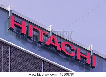 Sign On The Hitachi Data Systems AG Office Building