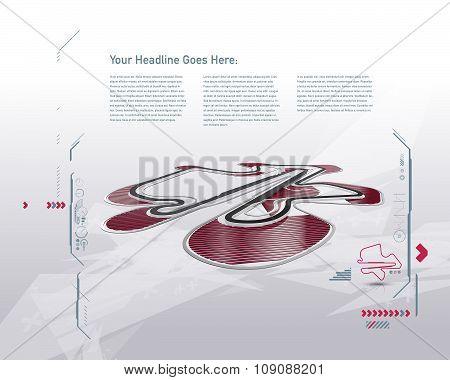 Futuristic Design Sepang F1 Racing Track Vector