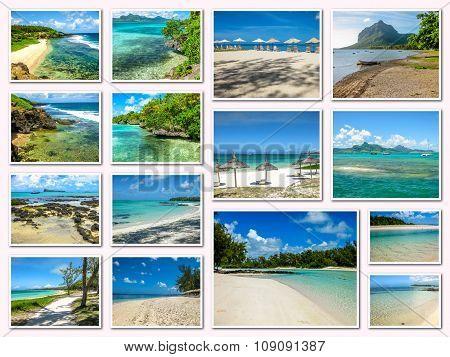 Mauritius pictures collage