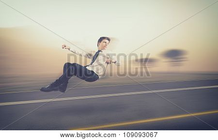 Teenager Drive An Invisible Car