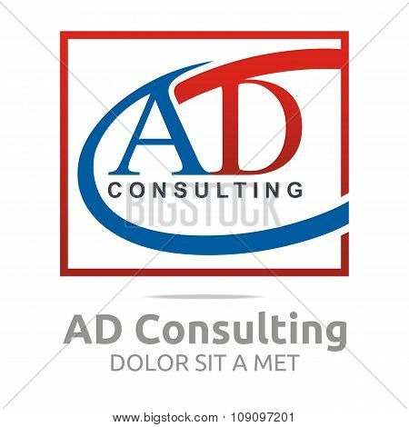 Logo Letter AD Consulting Icon Business
