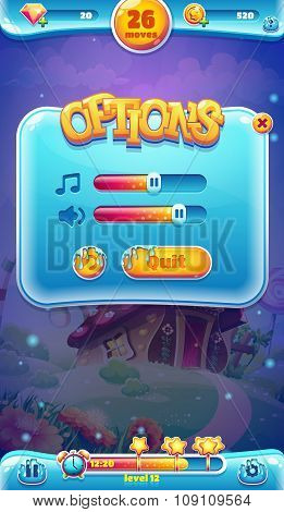 Sweet World Mobile Gui Sound Volume Screen For Video Web Games