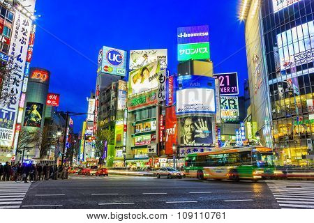 Shibuya, Tokyo, Japan.