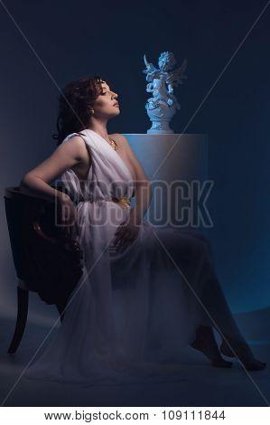 Venus Styled Beautiful Woman