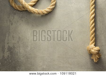 ship rope at old background texture