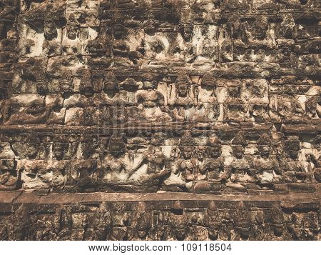 Terrace of the Leper King relief, Siem Reap, Cambodia