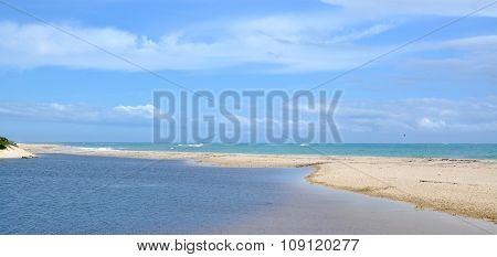 Sandbar: Moore River Meets Indian Ocean, Western Australia