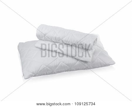 Pillow With White Protective Mite Pillow Case